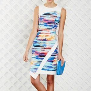SPENSE asymmetrical sleeveless multicolored dress